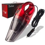 Trehai Car Hoover Vacuum Cleaner - Upgraded DC 12V 120W Powerful 4800pa Wet/Dry Auto Dust Buster Lightweight Portable