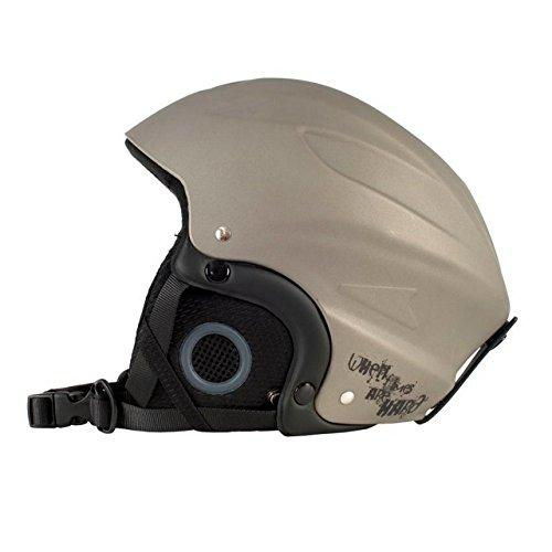 Trespass Adults Skyhigh Protective Snow Sport Ski Helmet (L) (Titanium)