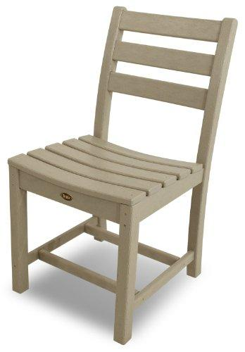 Trex Outdoor Furniture Monterey Bay Dining Side Chairs, Set of Two, Sand Castle