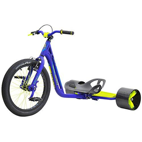 Triad Underworld 3 Drift Trike Tricycle, Blue/Neon Yellow