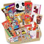 Trial Japanese Candy Dagashi Box 20pcs Umaibo Snack Gumi potato Chip Kitty chocolate w/AKIBA KING Sticker