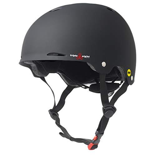 Triple Eight Gotham Mips Skate Helmet (XS-S - Black Rubber)