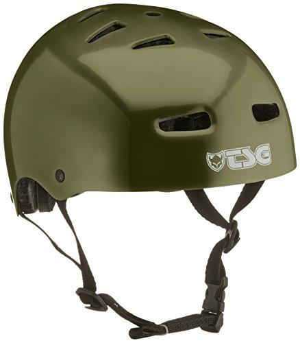 Tsg Skate/BMX Helmet Solid Color Green Injected Olive Size:L/XL
