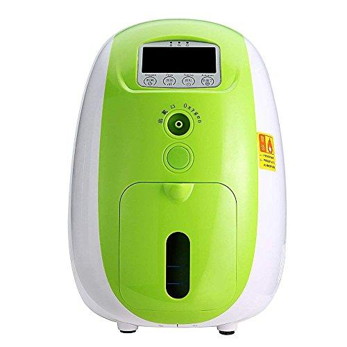 TTLIFE Portable O2 Generator Machine, 1-5L/min Home Travel Air Purifier Work Silent 110V (Green)