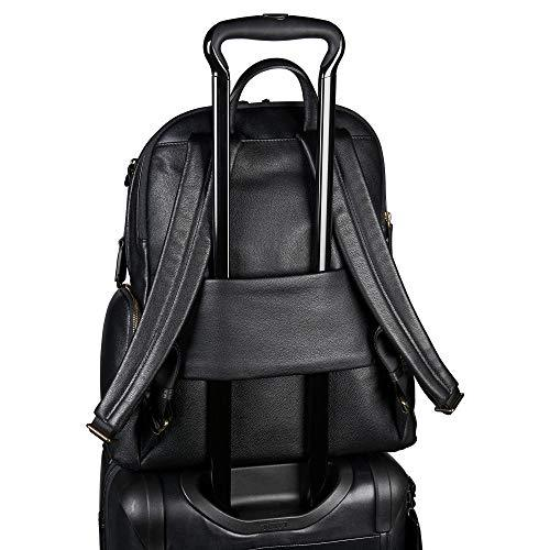 6dcfebf5616 Tumi Women's Voyageur Carson Leather Backpack, Black, One Size