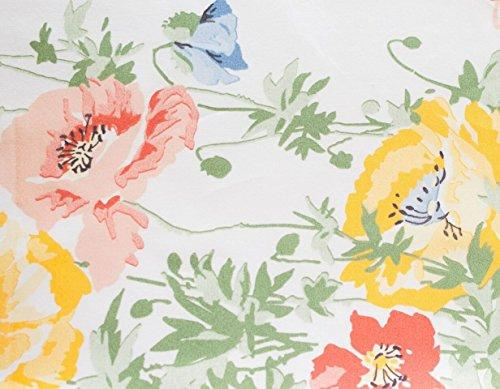 Tuscany Fine Linens SHEET SET, Floral/Multicolor, Twin