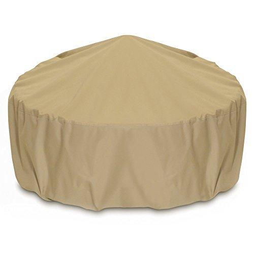 Two Dogs Designs Fire Pit Cover, 48-Inch, Khaki