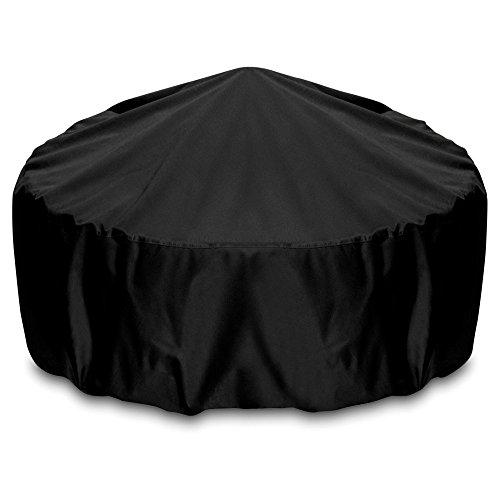 Two Dogs Designs Fire Pit Cover, 80-Inch, Black