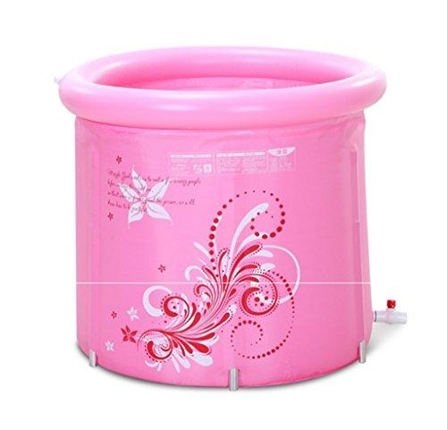 TXOZ Inflatable bathtub, Thickening Nylon Fold Tub Child Adult Plastic Inflated Bath barrel Bath tub (color : Pink)