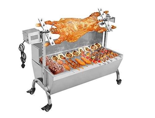 TX® 20W Stainless steel electric Roast Whole Lamb barbecue oven,barbecue stove barbecue grill Barbecue Tool Sets (110V/60HZ, 118# stove with wind-proof plate)