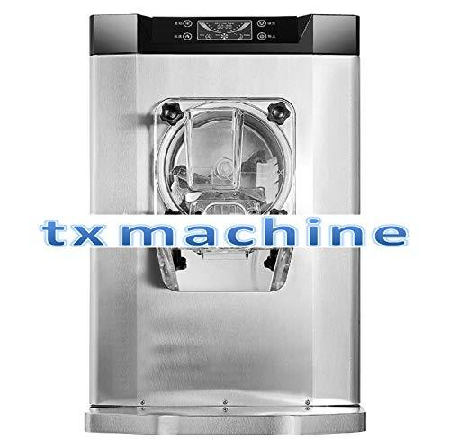 TX® Hard Ice Cream Machine Commercial Desktop Ice Cream Making Machine Stainless Steel Automatic Ice Cream Maker 5.3 Gal/H with Intelligent LCD Display and Clean Button (220V/50HZ, Meizhi Compressor)