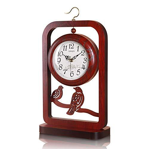 Udxvsdfhd Indoor Wall Clock Clock Restro Crafts Decorative Desk Non Ticking Silent,Battery Operated,Table, for Home/Kitchen/Office/Hotel/Shop,Easy to Read (Color : Double Sides)