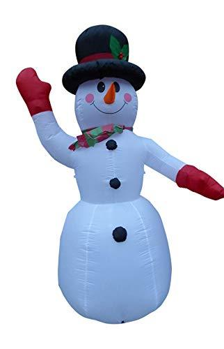 UK-Gardens Large Inflatable Snowman Christmas Decoration 240cm 8ft Tall With 8 LED Lights Indoor Outdoor Use