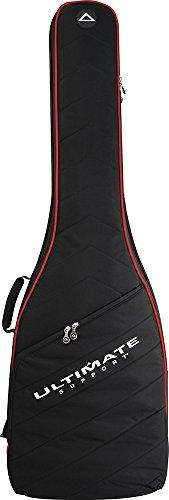 Ultimate Support USHB2-EB-RD Hybrid 2.0 Series Soft Case for Electric Bass Guitar, Black with Red Trim