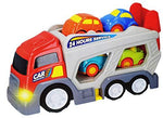 UMKYTOYS Toddler Car Transporter With 4 Cars Truck Makes Sound And Lights Up Gifts for Toddlers Ages 3 4 5
