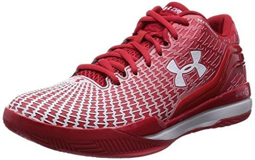 Under Armour CLUTCHFIT Drive Low Men's Basketball Shoes, - Rot / Weiß, 8.5 UK