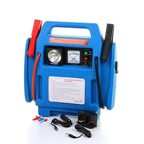 Unibos Car Jump Starter Battery Start Booster Charger Leads Air Compressor Portable 12V New