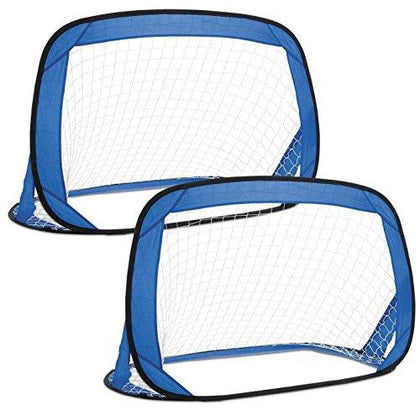 Unibos X2 Kids Pop-Up Football Goals - Set of 2 New