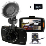 UNITOPSCI Dual Backup Camera and Dash Cam with FHD 1080P Resolution 2.7''LCD Screen Night Vision Safety Parking Monitor,Waterproof 140 Degree Dashboard Cam with 170 Degree Rear View Camera(16GB Card)