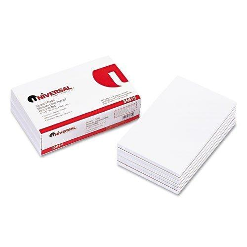Universal 35615 - Scratch Pads, Unruled, 5 x 8, White, 12 100-Sheet Pads/Pack-UNV35615 by Universal
