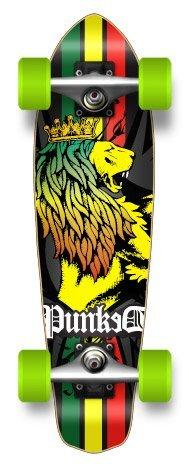 "Unknown Micro Cruiser Blank & Graphic Complete Longboard - 25"" X 7"" , Rasta"