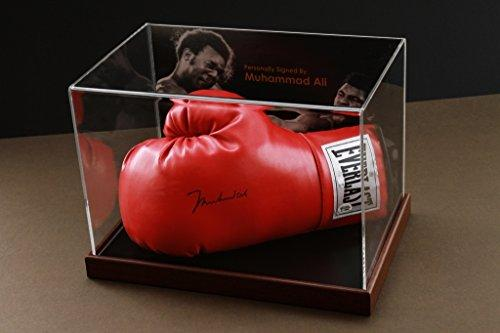 Up North Memorabilia Muhammad Ali Signed Boxing Glove Display Case with Online Authentics Autograph