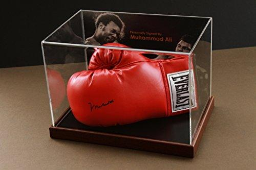 Up North Memorabilia Muhammad Ali Signed Red Boxing Glove Display Case Online Authentics Autograph