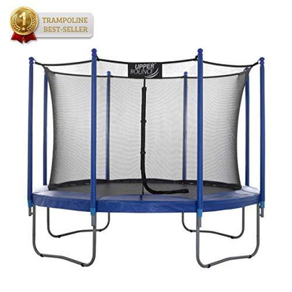 Upper Bounce Premium 12Ft Trampoline and Enclosure Set Equipped with Easy Assembly Feature | Outdoor Trampoline with Safety Enclosure Net | Ultra Durable Foam Mat and Safety Pads