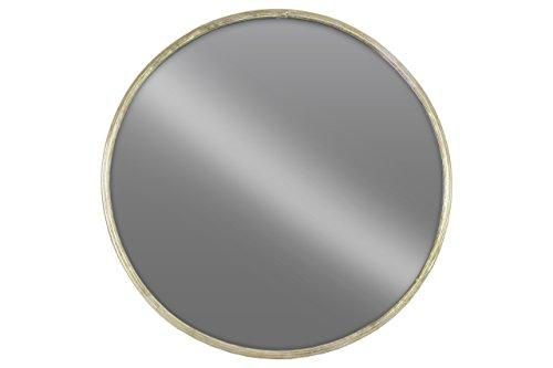 Urban Trends 67092 Metal Round Wall Mirror LG Tarnished Champagne Finish