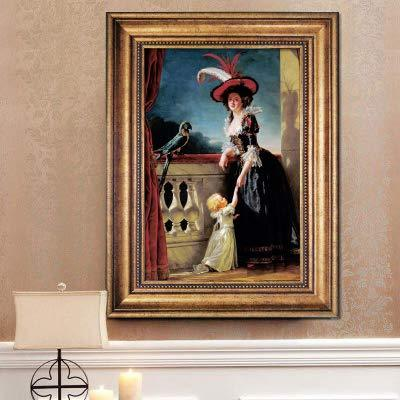 UtopiaShi Foreign decorative painting character painting with frame micro-spray modern European living room dining room bedroom famous wild can be customized