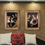 UtopiaShi Foreign decorative painting famous Raphael oil painting with frame micro-spray modern European living room dining room bedroom can be customized