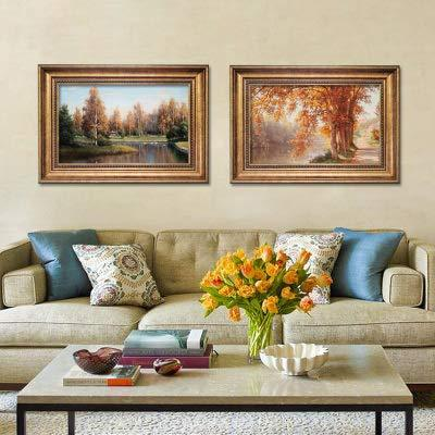 UtopiaShi Foreign decorative painting landscape painting with frame micro-spray modern European living room dining room bedroom famous wild can be customized