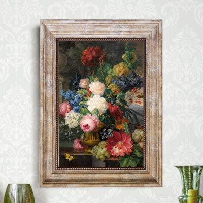 UtopiaShi Foreign decorative painting palace classical flower painting with frame micro-spray modern European living room dining room bedroom can be customized