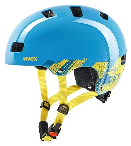 Uvex Unisex-Youth KID 3 BLACKOUT BLUE 55-58 Cycle Helmet
