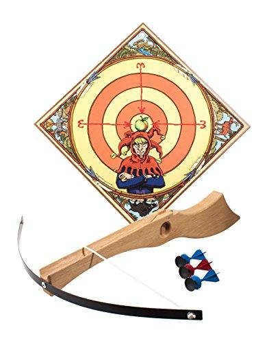 "VAH - sturdy children crossbow-set ""Wilhelm Tell"" made from stable wood incl. 3 safety-arrows and archery target [Made in Germany 