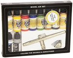 Vallejo Model Air Basic Colors Ultra Airbrush Set