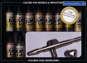 Vallejo Model Air Set Camo Colors Ultra Airbrush Set
