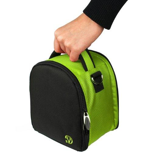 VanGoddy Laurel Neon Green Carrying Case Bag for Nikon CoolPix Series Compact to Advanced Digital Cameras