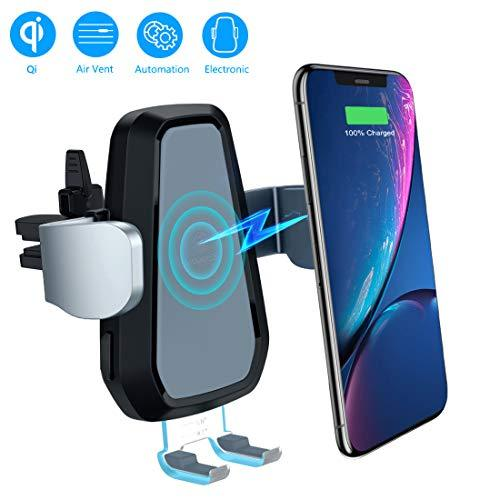 VANMASS Car Wireless Charger, Auto Clamping Qi Car Charger,10W Fast  Charging Phone Holder Air Vent 360°Rotating Cradle Mount Motorized for  Samsung