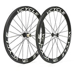 VCYCLE 700C Carbon Racing Road Bike Wheelset 50mm Clincher 23mm Width UD Matte Shimano or Sram 8/9/10/11 Speed
