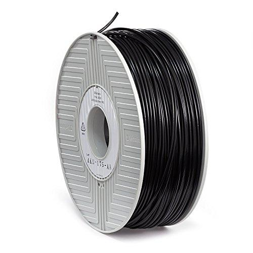 Verbatim 3D Printer Filament - ABS High-Grade 3mm 1kg Reel - Widely Compatible with 3D Printers - Black