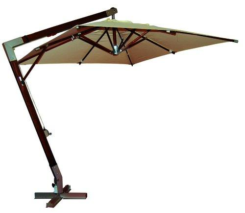 Vette 48760 cdf03207 Helios decentralised Parasol with Crank, Heavy, Wood, Beige, 4 X 4 X 2.6 cm
