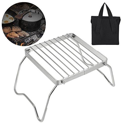VGEBY Barbecue Grill, Portable Foldable Lightweight Charcoal Grill for Camping Hiking Picnic