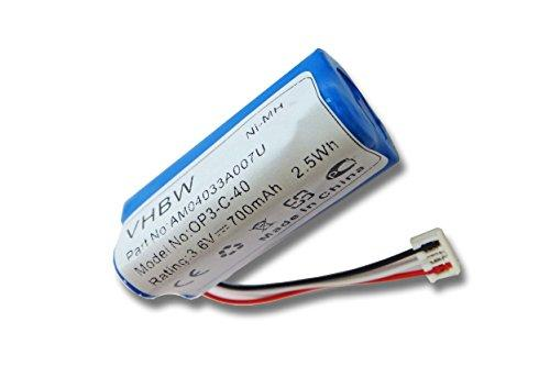 vhbw BATTERY NI-MH 700mAh 3.6V suitable for WELLA XPERT HS70 hair clippers, Kadus Clipper HS70 replaces 1520902, HR-AAAU