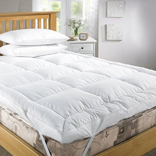 "Viceroybedding EXTRA DEEP 5"" (12.5 cm) LUXURY Goose Feather and 40% Down Mattress Topper (Single)"