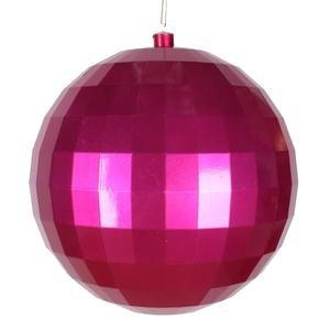 "Vickerman 10"" Cerise Candy Finish Mirror Ball Christmas Ornament"