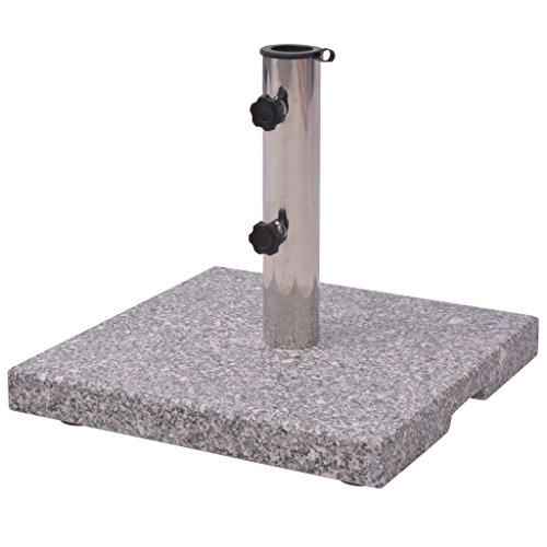 vidaXL Parasol Base Granite 20 kg Outdoor Garden Umbrella Stand Holder Support