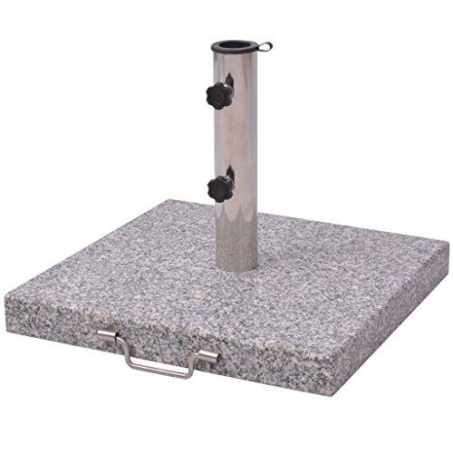 vidaXL Parasol Stand 48cm Granite Square Outdoor Umbrella Base Holder Support