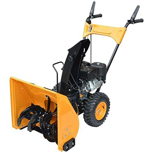 vidaXL Petrol Snow Thrower Blower Outdoor Power Machine 6.5 HP Yellow and Black