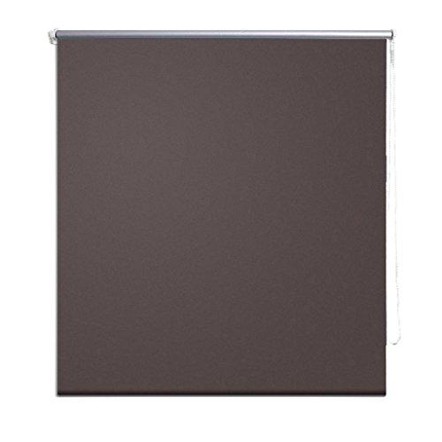 vidaXL Roller Blind Blackout 120x230cm Coffee Window Curtain Shade Sunscreen